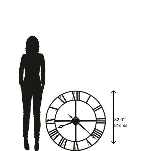 Howard Miller - Howard Miller Lacy Oversized Iron Wall Clock 625372