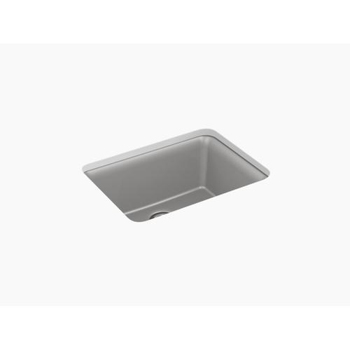 """Matte Grey 24-1/2"""" X 18-5/16"""" X 9-1/2"""" Neoroc Undermount Single-bowl Kitchen Sink With Rack"""