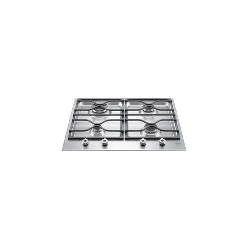 24 Segmented cooktop 4-burner Stainless Steel
