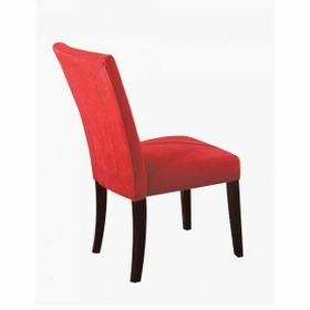 ACME Baldwin Side Chair (Set-2) - 16835 - Red Microfiber & Walnut