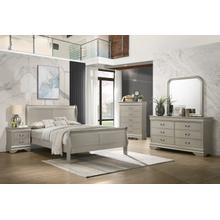 Louis Philippe Silver Queen 4PC Bedroom Set
