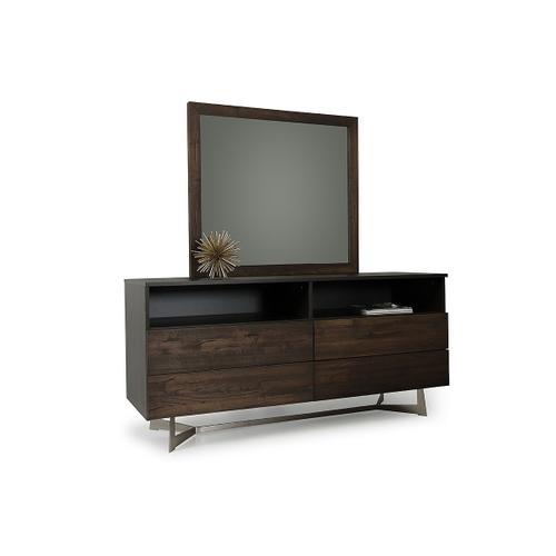 VIG Furniture - Modrest Wharton Modern Dark Aged Oak Mirror