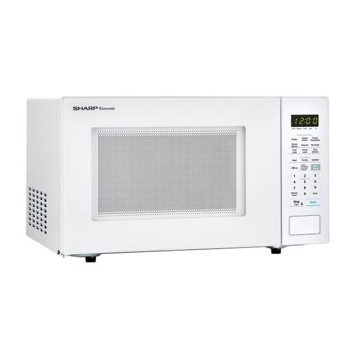 Gallery - 1.4 cu. ft. 1000W Sharp White Countertop Microwave Oven