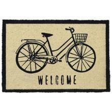 Doormat Bicycle Black 24x36