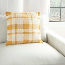 """Kathy Ireland Pillow Sh300 Yellow 20"""" X 20"""" Throw Pillow"""
