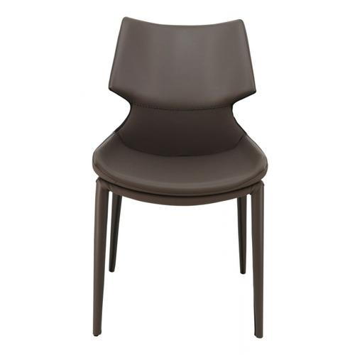 VIG Furniture - Modrest Helwig Contemporary Grey Eco-Leather Dining Chair (Set of 2)
