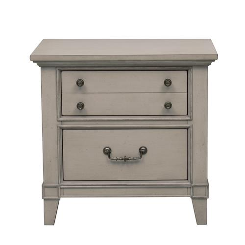 Two Drawer Nightstand with USB Charging