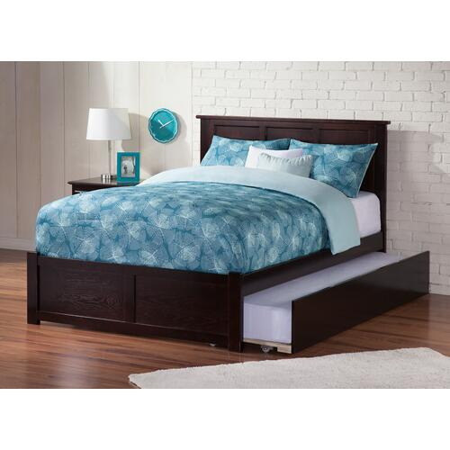 Atlantic Furniture - Madison Full Flat Panel Foot Board with Urban Trundle Espresso