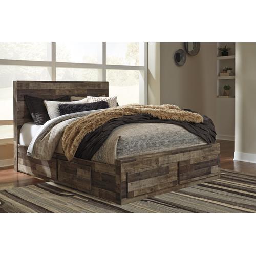 Derekson Queen Storage Bed Multi Gray