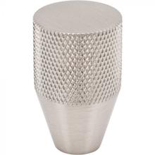 View Product - Beliza Conical Knurled Knob 13/16 Inch Brushed Satin Nickel Brushed Satin Nickel