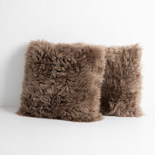 Lalo Lambskin Pillow, Taupe, Set of 2