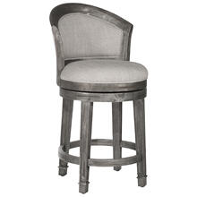 Monae Swivel Counter Height Stool, Distressed Dark Gray