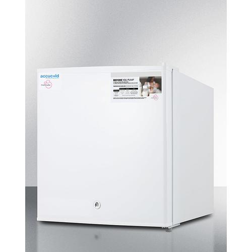 Summit - Countertop Momcube All-freezer for Storage of Breast Milk, Manual Defrost With Lock