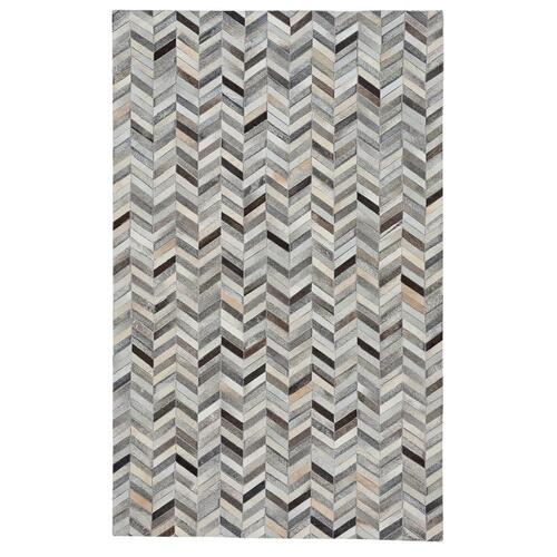 Gallery - Laramie-Arrowhead Grey Multi - Rectangle - 5' x 8'