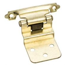 """View Product - Traditional 3/8"""" Inset Hinge with Semi-Concealed Frame Wing - Polished Brass"""