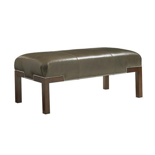 Norfolk Leather Cocktail Ottoman
