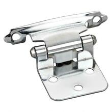 """View Product - Traditional 1/2"""" Overlay Hinge with Screws - Polished Chrome"""