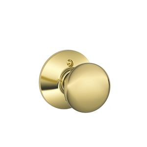 Plymouth Knob Non-turning Lock - Bright Brass Product Image