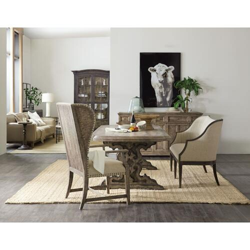 Dining Room La Grange Le Vieux 86in Double Pedestal Table w/2-18in Leaves