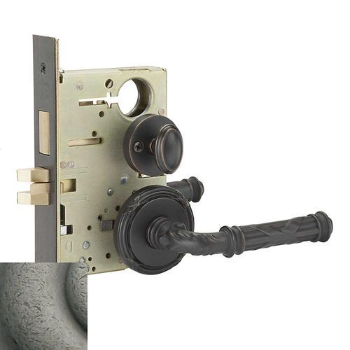Baldwin - Distressed Antique Nickel Fenwick Sectional Privacy Set
