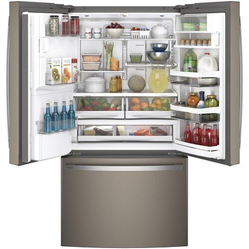 GE Profile™ Series ENERGY STAR® 22.1 Cu. Ft. Counter-Depth French-Door Refrigerator with Hands-Free AutoFill