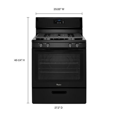 Gallery - Whirlpool® 5.1 Cu. Ft. Freestanding 4-Burner Gas Stove