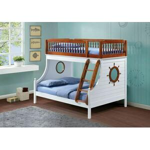 ACME Farah Twin/Full Bunk Bed - 37600 - Oak & White