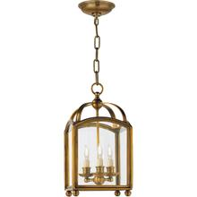 E. F. Chapman Arch Top 3 Light 8 inch Antique-Burnished Brass Foyer Pendant Ceiling Light