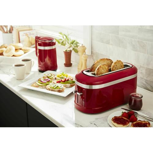 Gallery - 4 Slice Long Slot Toaster with High-Lift Lever - Empire Red