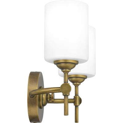 Aria Bath Light in Weathered Brass