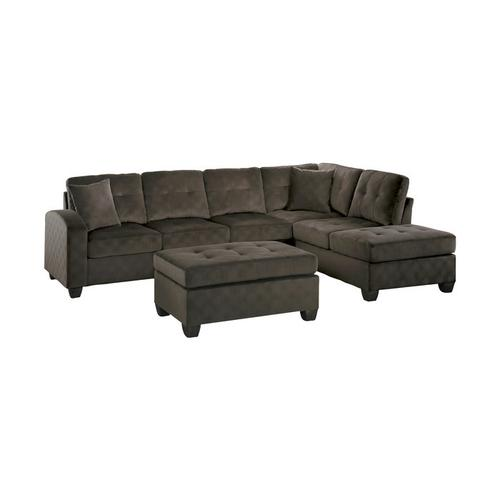 Gallery - 3-Piece Reversible Sectional with Ottoman