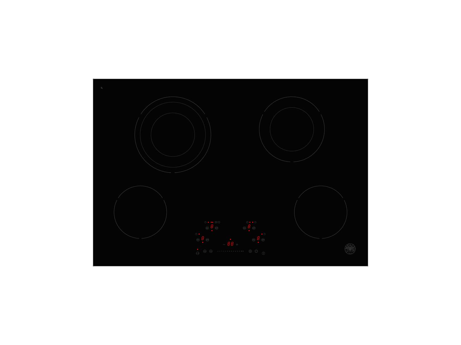 30 Ceran Touch Control Cooktop 4 heating zones Nero