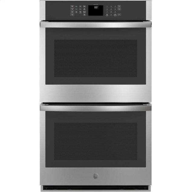 """GE 30"""" Smart Built-In Self-Clean Double Wall Oven with Never-Scrub Racks"""