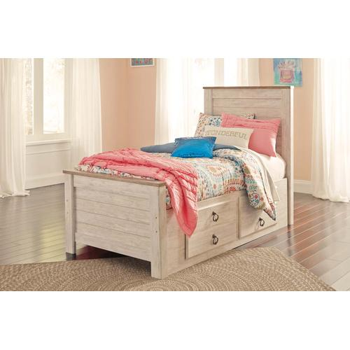 Twin Size Panel Storage Bed