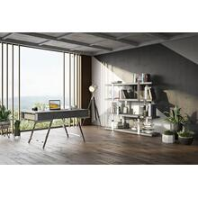 Modrest Dessart - Modern Elm Grey Office Desk