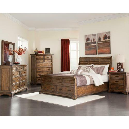 Elk Grove Rustic Rich Bourbon California King Four-piece Set