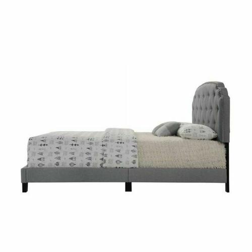 ACME Tradilla Queen Bed - 26370Q - Gray Fabric