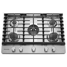"""View Product - 30"""" 5-Burner Gas Cooktop - Stainless Steel"""