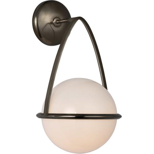 AERIN Lisette LED 8 inch Bronze Bracketed Sconce Wall Light
