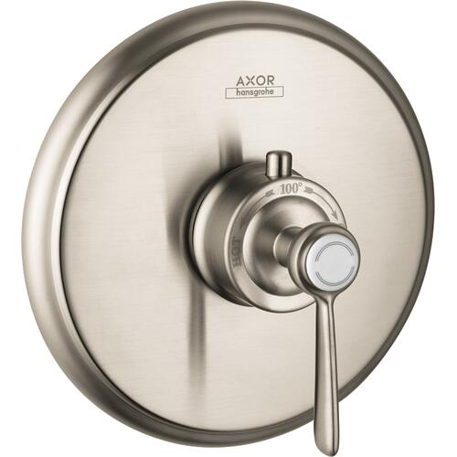 AXOR - Brushed Nickel Thermostatic Trim HighFlow with Lever Handle
