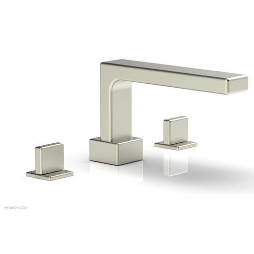 MIX Deck Tub Set - Blade Handles 290-40 - Satin Nickel