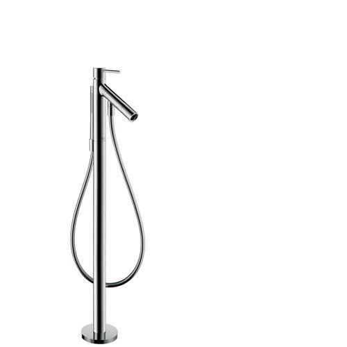 Brushed Black Chrome Single lever bath mixer floor-standing with pin handle