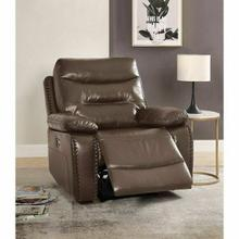 ACME Aashi Recliner (Power Motion) - 55423 - Contemporary - Leather-Gel, Frame: Wood (Hemlock/Fir, Ply), Foam (D28), Metal Reclining Mechanism - Brown Leather-Gel Match