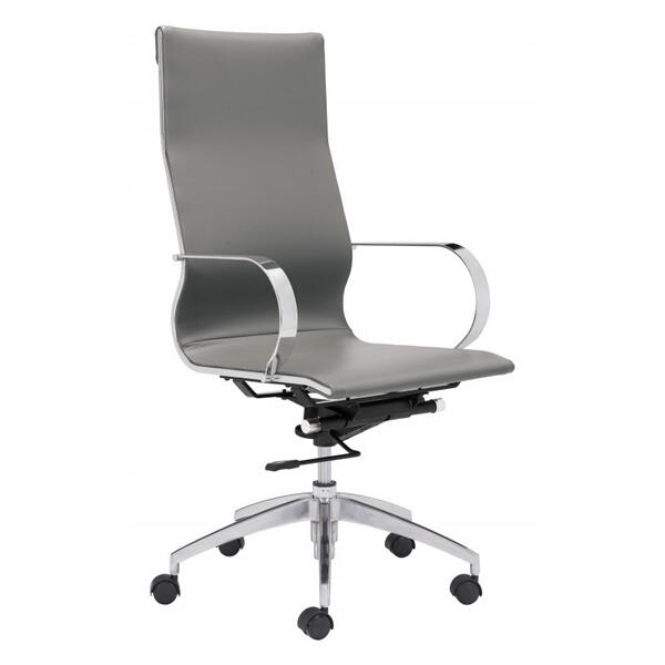 Glider High Back Office Chair Gray