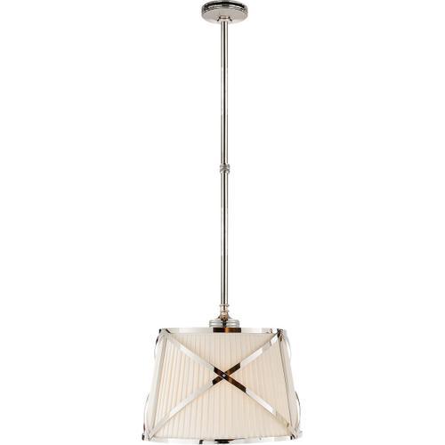 Visual Comfort - E. F. Chapman Grosvenor 2 Light 15 inch Polished Nickel Hanging Shade Ceiling Light
