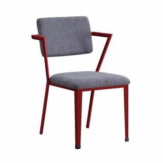 ACME Cargo Chair - 37918 - Gray Fabric & Red
