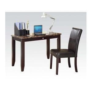 Acme Furniture Inc - 2pc Pk Desk , Chair W/faux M.