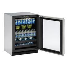 """View Product - 2224bev 24"""" Beverage Center With Stainless Frame Finish and Left-hand Hinge Door Swing (115 V/60 Hz Volts /60 Hz Hz)"""