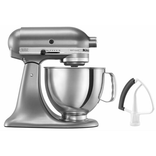 Gallery - Value Bundle Artisan® Series 5 Quart Tilt-Head Stand Mixer with Flex Edge Beater - Contour Silver