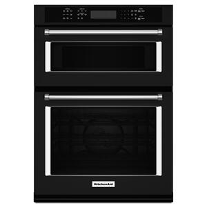 "KitchenAid27"" Combination Wall Oven with Even-Heat True Convection (lower oven) Black"